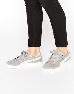 622d778d05fa Puma Classic Suede Basket Sneakers In Gray