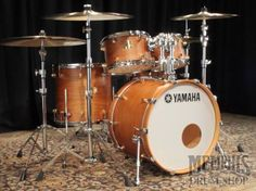 Yamaha Maple Custom Drum Set - Vintage Natural - similar to Britchops Drums Course DrumKit!!!!