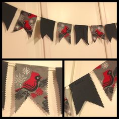 Just finished winter bunting for my brother's apartment...manly cute :)