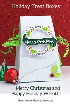 Items similar to KIT Party Favor Treat Boxes /Party Favor /Christmas Party Treat/ Merry Christmas/Happy Holidays/We Believe/ Wreath/Banner/ Snowy on Etsy Neighbor Christmas Gifts, Christmas Place, Christmas Party Decorations, Christmas Banners, Christmas Candy, Christmas Treats, Volunteer Appreciation Gifts, Classroom Treats, School Treats