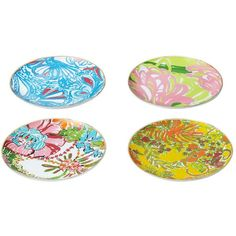 "Lilly Pulitzer for Target Porcelain Plates with 18kt Gold Rim 7"" Set... ($40) ❤ liked on Polyvore featuring home, kitchen & dining, dinnerware, plates, lilly pulitzer plates, lilly pulitzer, porcelain dinnerware, gold rimmed dinnerware and gold rimmed plates"