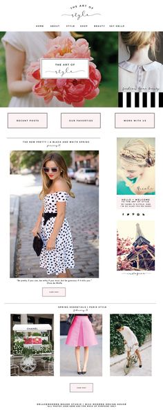 Feminine Chic Blog Design | Fashion Blogging | Mood Board | Blog Inspiration | Website Theme | Modern Layout | Niche Ideas