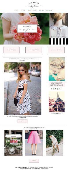Deluxemodern Blog design for The Art of Style