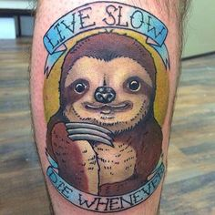 Tattoos of Memes #InkedMagazine #sloth #cute #tattoo #tattoos #inked #art