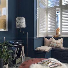 farrow and ball stiffkey blue Farrow Ball, Room Wall Colors, Kitchen Wall Colors, Wall Colours, Stifkey Blue, Interior Walls, Interior Design, Interior Ideas, New Living Room