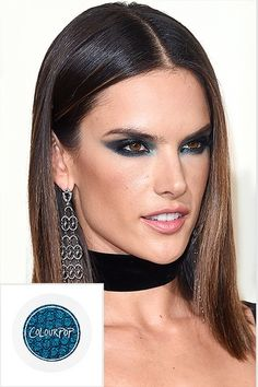Beauty Update: 6 Bold Spring Trends You Have to Try | People - Alessandra Ambrosio in dark navy blue eye makeup