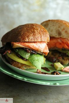 Crispy Salmon, Bacon and Avocado Sandwich by Heather Christo, via Flickr