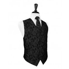 Black Tapestry Vest - Rent separately for only $15, or include it in your complete tux package starting at just $59!