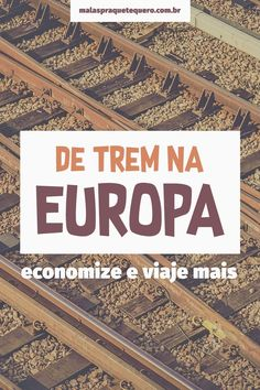 Train in Europe: learn how to save up to on tickets- Trem na Europa: saiba como economizar até nas passagens 5 tips for buying train tickets in Europe with up to off. It& cheaper than Black Friday, but it has to run! Slow Travel, Travel List, Travel Guide, Travel Europe, Places To Travel, Travel Destinations, Places To Go, Eurotrip, Nice Riviera