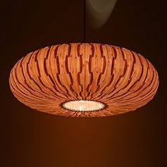 Handmade Umbrella Hanging 3-Light Pendant Lamp, made of natural bamboo veneer, a great lighting for dining room and bedroom, ceiling lamp, pendant lamp, fixtures