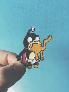 Futurama Nibbler Eating A Cat Enamel Pin