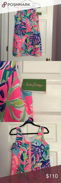 NWT Lilly Pulitzer Cathy Shift in Exotic Garden Brand NWT Lilly shift dress, size 6. Vibrant colors and beautiful zip design. Retails for $178, still in stores. Cheaper on mercar¡ Lilly Pulitzer Dresses Mini