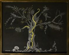 "THE TREE ""The tree is recognized by its fruit, but the quality of the fruit is defined by its roots""  Glass engraving with acrylic colors and effect pastes.  50 cm X 40 cm"