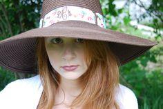 Custom Beach/Garden Hat with Embroidered Monogram by KeyLimeOnline, $25.00