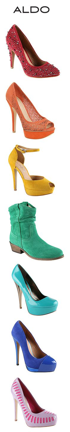 a06adf21f5b6e1 The ROYGBIV of footwear! Here s some stylish shoes currently available at  Aldo. Wedge Ankle