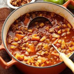 Enjoy the flavor of apples, pumpkins and other fall favorites in these tempting takes on cool-weather classics, including cobbler, pot roast, chili and pie.