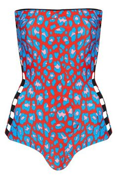 Topshop Cage Side Reversible One-Piece Swimsuit