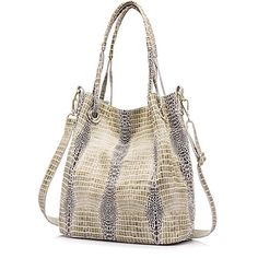 140adda80d Women genuine leather handbag extra large capacity shoulder bag female  fashion serpentine print leather tote bag - handbagshaven.com  Handbagshaven.com has ...