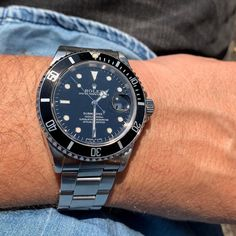 This full set Tritium Submariner found a new home in London - She will be missed. Awesome Sub and a true Rolex icon!... Quality Watches, Full Set, Omega Watch, Rolex, London, Awesome, Accessories, London England, Jewelry Accessories