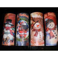 Risultati immagini per tejas navideñas Christmas Time, Christmas Crafts, Christmas Decorations, Christmas Ornaments, Snowmen Pictures, Bottle Painting, Clay Crafts, Drinking Tea, Projects To Try
