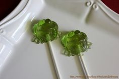 cute frog lollipops