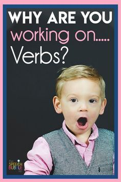 Why are you working on.... verbs? Do you feel like you have to explain your methods to your coworkers, principals or parents? Check out this blog post full of ideas on why it's so important to follow your speech therapy program for the best success for your students. #language #pathology #SLP #SPED #development #goals #SpecialEd