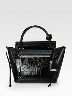 Jil Sander - Crocodile-Embossed Top Handle Bag - Saks.com