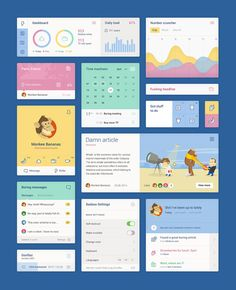 Free UI Kit by Studio Unity Look at this funny illustrated UI KIT by studio Unity from Zagreb, Croatia. It includes lots of elements, charts, inforgraphics, profile cards, calendar and timer interfaces, and much more. Everything in one free PSD file! Check out more about the free PSD UI Kit on WATC. Find WATC on:Facebook I Twitter I Google+ I Pinterest I Flipboard I Instagram