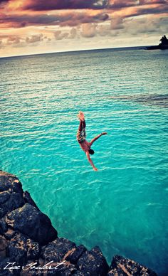 Cliff diving in Waimea Bay ~ Oahu, Hawaii • photo: Isac Goulart on 500px