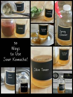 10 Ways to use Sour Kombucha via #ittakestime Great resource because my first batch was *almost* too sour. #conveyawareness