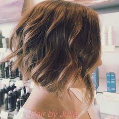 Messy wavy bob hairstyle
