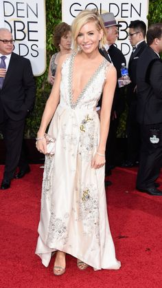 Everything about the Miu Miu dress on Sienna Miller was PERFECTION. via @stylelist