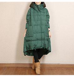 Abrigos y chaquetas de invierno de mujer con capucha con dos