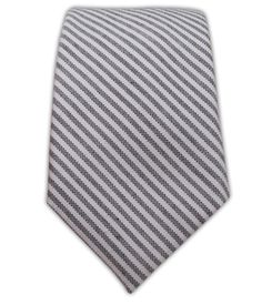 Oxford Stripe - Gray (Cotton Skinny) | Ties, Bow Ties, and Pocket Squares | The Tie Bar