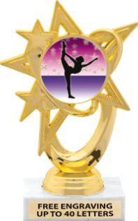 Gymnastics Insert Star Trophies