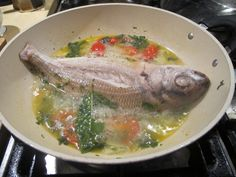 Fish cooked in crazy water