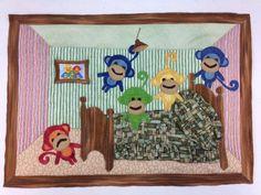 "Numbers - Fleur Maddern - ""Little Monkeys! Little Monkeys, Textile Artists, Html, Textiles, Quilts, Create, Decor, Flowers, Patch Quilt"