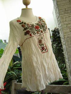 boho fashion, hippie style, peasant blouse update