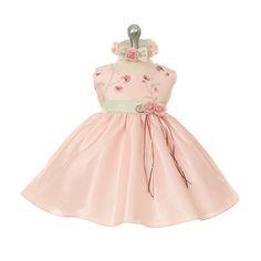 Pink/Sage Courtyard Garden Baby Dress