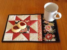 Mug Rug Snack Mat Placemat Coaster Candle Mat. by AnniesQuiltCraft, $8.00