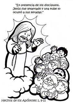 Bible Coloring Pages, Cool Coloring Pages, Sunday School Coloring Pages, Jesus Cartoon, Catechist, Easter Story, Church Crafts, Sunday School Crafts, Holy Week
