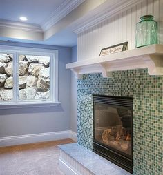 Bead Board Mantle Design, Pictures, Remodel, Decor and Ideas