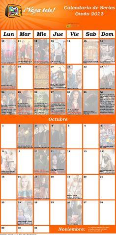 calendario de estrenos de series en Estados Unidos visto en @vayatele