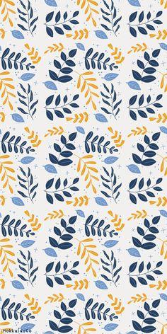 Botanical Leaves Pattern Wallpaper