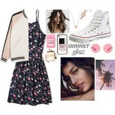 A fashion look from July 2017 by danifashionblog featuring Hollister Co., Monki, Brigitte, Converse, Michael Kors, Amanda Rose Collection, Ray-Ban, Kate Spade a...