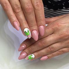 Newest Cactus Nails 2018 – 60 Design Gel Nail Art Designs, Long Nail Designs, Cute Nail Designs, Nails 2018, Us Nails, Hair And Nails, Cute Summer Nails, Spring Nails, Fall Nails