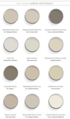 Domaine Home - 12 Best Warm Neutral Paint Colors by nita