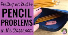 Pencil problems in the classroom? Solve them for good with this simple pencil solution that will save you money and time! You'll never have pencil problems again!
