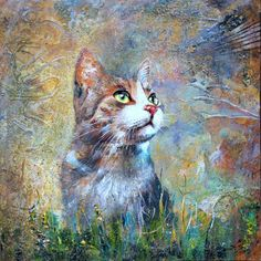Cat - Photo, Color, Original Painting, Beautiful, Artmajeur, Contemporary Art
