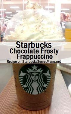 Starbucks Chocolate Frosty Frappuccino - - If you love Chocolate Frostys, you'll love the Chocolate Frosty Frappuccino! Starbucks Secret Menu Drinks, Starbucks Recipes, Coffee Recipes, Starbucks Hacks, Starbucks Chocolate Frappuccino, Starbucks Coffee, Starbucks Smoothie, Frostig Rezept, Wendys Frosty Recipe